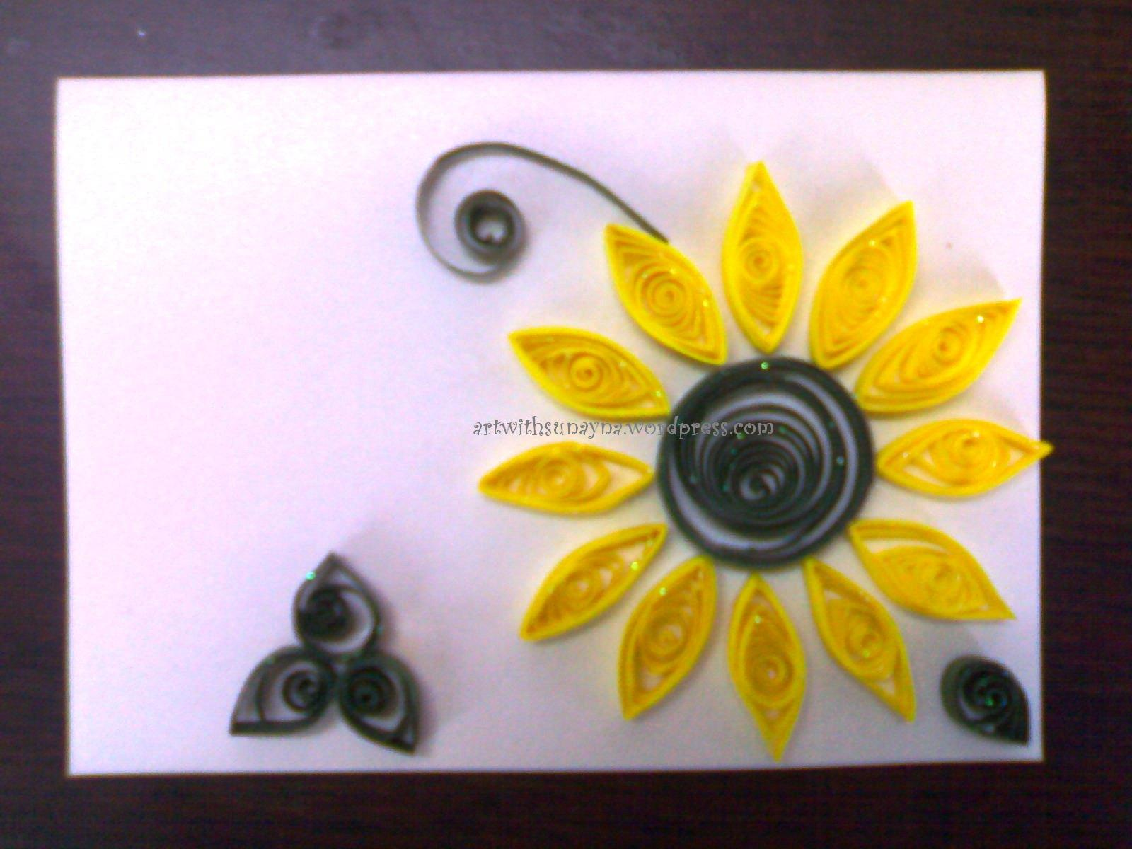 Paper quilled greeting cards flower greetings 1 art with sunayna product code mc0010 m4hsunfo