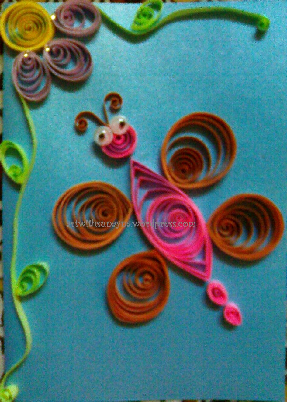 Paper Quilled Greeting Cards Butterfly 1 Art With Sunayna