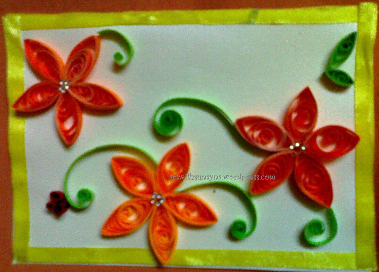 Paper Quilled Greeting Cards Art With Sunayna