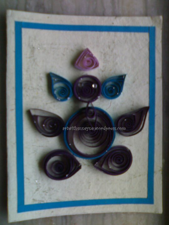 paper quilling greeting card