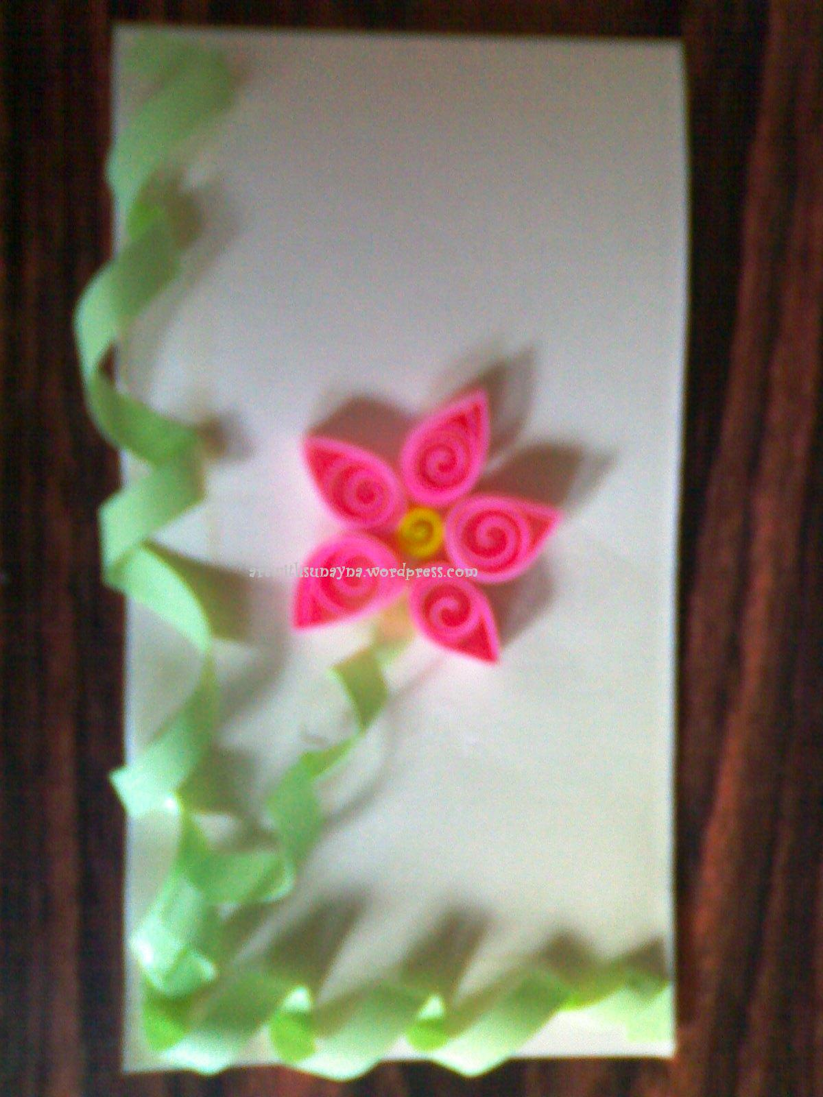 Paper Quilling Greeting Card Art With Sunayna