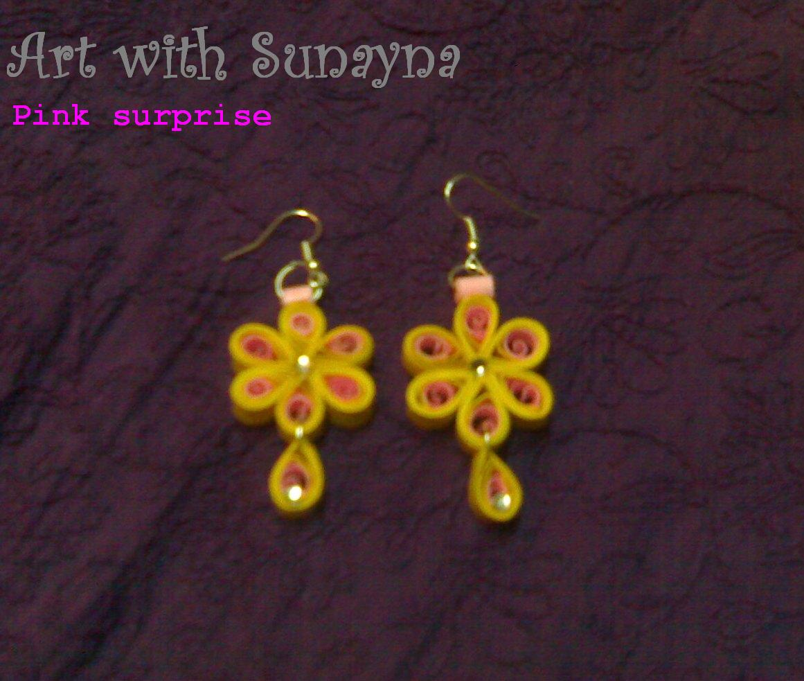 Paper Earrings Art With Sunayna